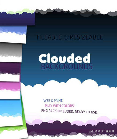 云背景<br /> http://ancadeaconu.deviantart.com/art/Clouded-Backgrounds-170443363