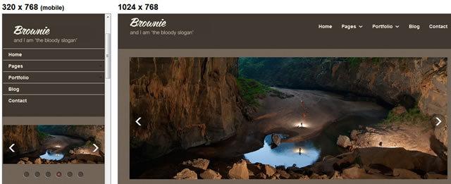 Brownie<br /> http://www.egrappler.com/free-responsive-html5-portfolio-business-website-template-brownie/