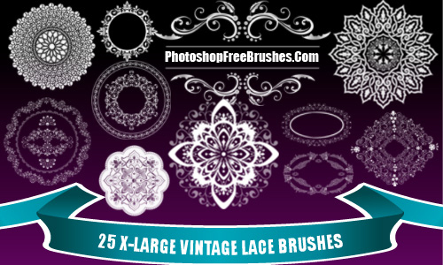 25 Vintage Lace Photoshop Brushes Part 2<br /> http://www.photoshopfreebrushes.com/vintage-lace-brushes/