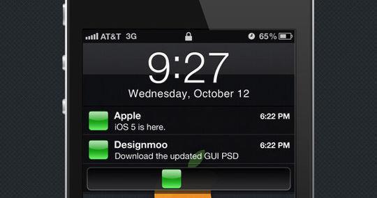 iOS 5 GUI PSD<br /> http://designmoo.com/12694/ios-5-gui-psd/