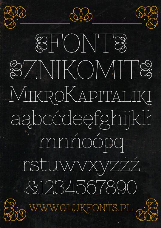 Free Font Znikomit<br /> http://www.behance.net/gallery/Free-Font-Znikomit/3878017