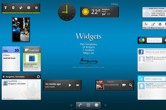 Android: Widgets<br /> http://bharathp666.deviantart.com/art/Android-Widgets-182178250