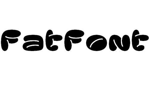Fatfont<br /> http://www.fontspace.com/honey-and-death/fatfont