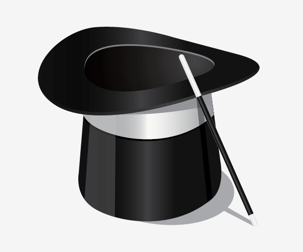 Draw a Magician's Hat in Illustrator<br /> http://designinstruct.com/drawing-illustration/draw-a-magicians-hat-in-illustrator/