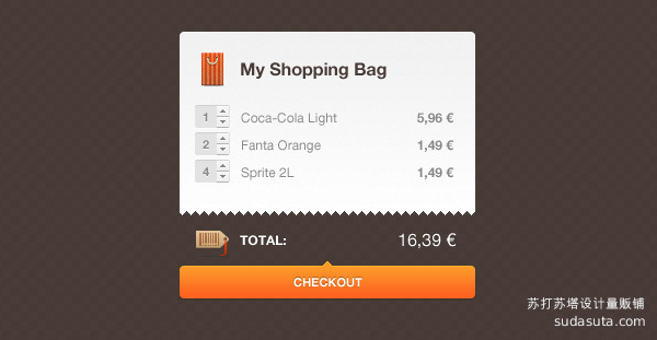 购物袋PSD<br /> http://www.breezyprague.com/freebies/download/shopping-cart/