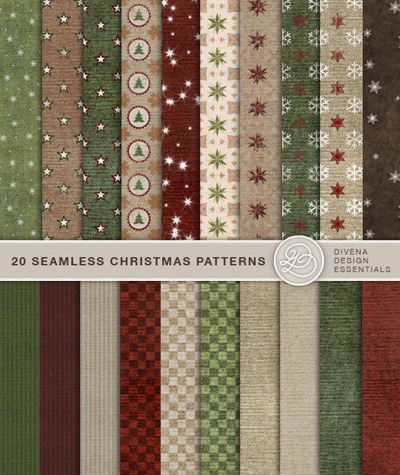 无缝圣诞图案<br /> http://graphicriver.net/item/20-seamless-christmas-backgrounds/133899?ref=Divena