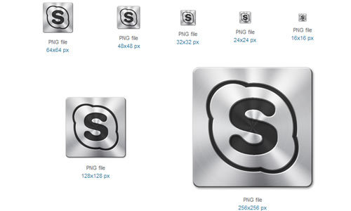 Skype的图标<br /> http://www.softicons.com/free-icons/social-media-icons/brushed-metal-icons-by-mebaze/skype-1-icon