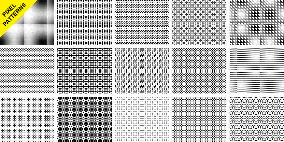 Seamless Pixel Pattern<br /> http://www.graphicsfuel.com/2011/06/seamless-pixel-patterns/