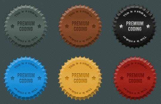6精美科克贴<br /> http://premiumcoding.com/freebie-fancy-cork-stickers-psd/