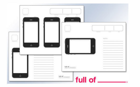 iPhone App Wireframe Template<br /> http://fullofdesign.com/posts/iphone-app-wireframe-template/