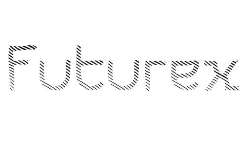 Futurex Striped<br /> http://www.fontspace.com/apostrophic-lab/futurex-striped