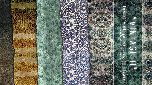 复古II纹理包(12个纹理)<br /> http://cloaks.deviantart.com/art/Vintage-II-Texture-Pack-85979548