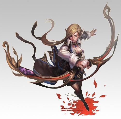 elf archer<br /> http://nawol.deviantart.com/art/elf-archer-162153270