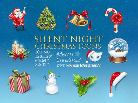 平安夜的圣诞图标<br /> http://lazycrazy.deviantart.com/art/Silent-Night-Christmas-icons-146501718?q=boost%3Apopular%20christmas%20icons&qo=1