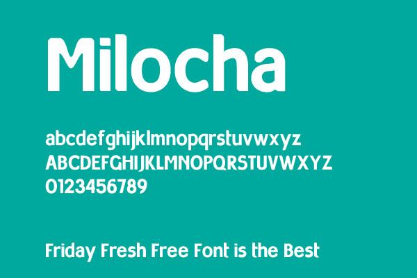 Milocha<br /> http://www.fontsbytes.com/m/milocha/