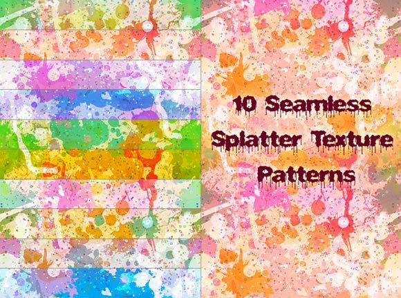 Seamless Splatter Patterns<br /> http://www.brusheezy.com/patterns/9266-10-seamless-splatter-patterns