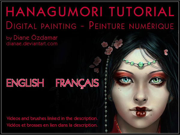HANAGUMORI TUTORIAL – DIGITAL PAINTING<br /> http://dianae.deviantart.com/art/Digital-Painting-Tutorial-74468761