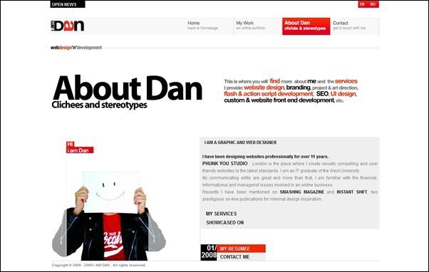 I am Dan<br /> http://www.iamdan.net/about.html