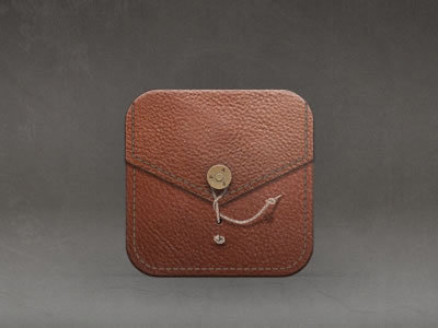Leather Cover http://dribbble.com/shots/808317-Ipad-Cover-Icon