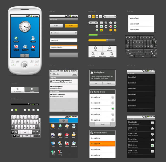 Android 1.5 GUI (PSD)<br /> http://vgrishin.me/android_gui.html
