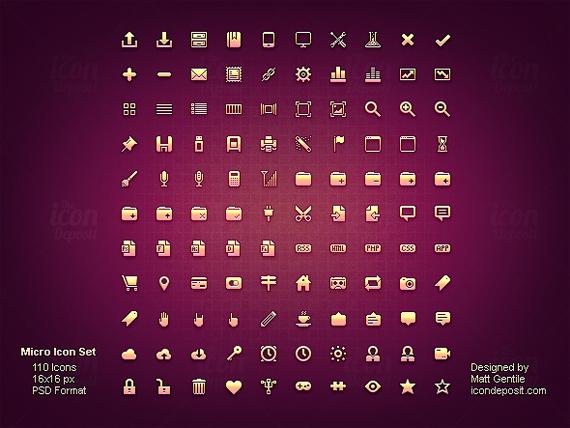 Micro Icon Set<br /> http://www.icondeposit.com/theicondeposit:27