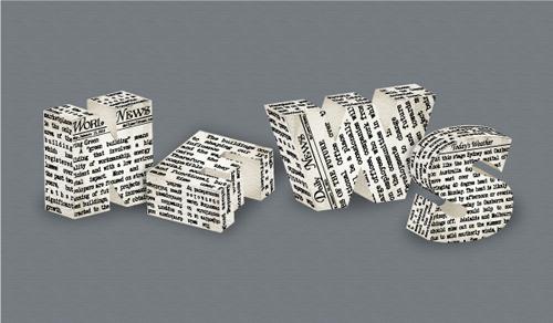 在Illustrator中绘制3D立体效果的报纸字体<br /> http://vector.tutsplus.com/tutorials/text-effects/3d-newspaper-text-effect/
