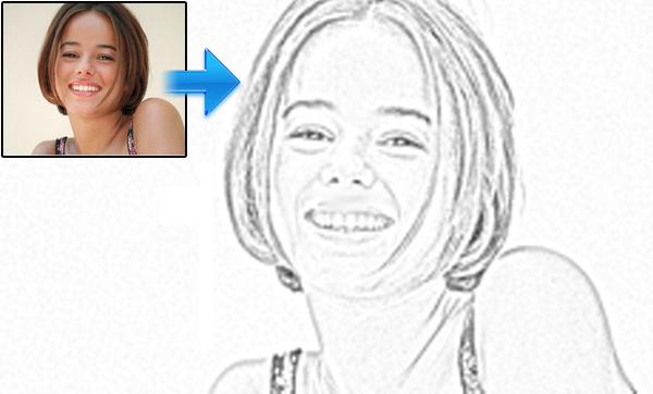 使用Photoshop将图像转换为素描<br /><br /> http://www.hacktrix.com/how-to-convert-an-image-to-pencil-sketch-using-photoshop