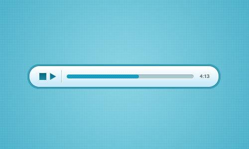 蓝色的音频播放器<br /> http://365psd.com/day/2-210/