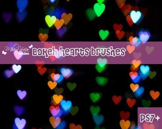 散景心刷机包<br /> http://www.brusheezy.com/brushes/33414-bokeh-heart-brush-pack-by-milana-v-