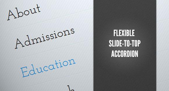 Flexible Slide-to-top Accordion tutorial.