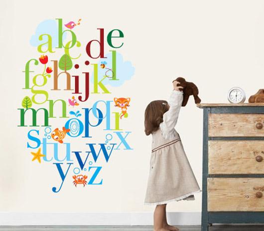 Alphabet Wall Decals Stickers