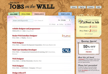 应用了纹理效果的极好的25个网页设计