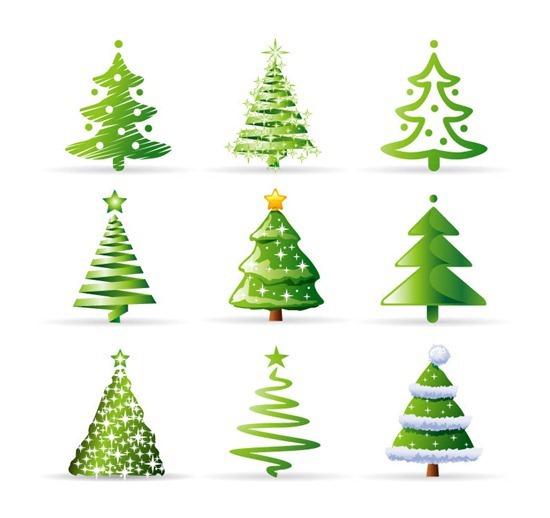 圣诞树收集<br /> http://www.eps10.com/christmas-tree-collection-vector-116.shtml
