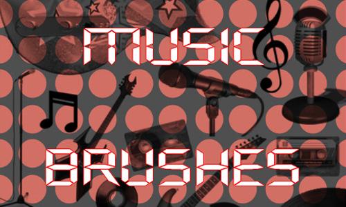 Music Brushes<br /> http://whoisthatgirl.deviantart.com/art/Music-Brushes-136465563