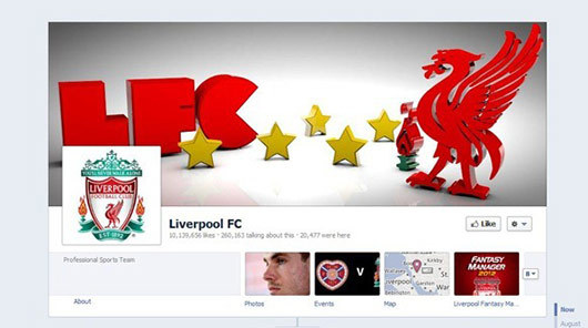 Liverpool FC<br /> http://www.facebook.com/LiverpoolFC