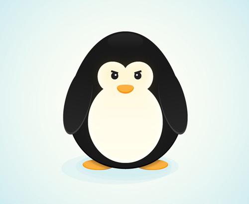 创建一个简单的企鹅<br /> http://vforvectors.com/create-a-simple-penguin-character/