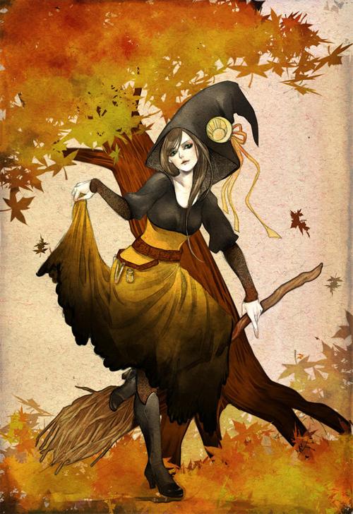 Halloween Witch<br /> http://jurithedreamer.deviantart.com/art/halloween-witch-146588897