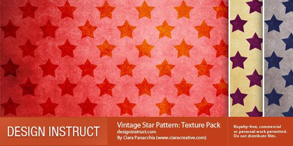 古典星图(3纹理)<br /> http://designinstruct.com/free-resources/textures/vintage-star-pattern/