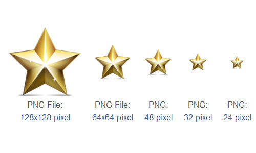 金色的星形图标<br /> 16像素,24PX,32px,48像素,64x64px,96x96px和128x128px<br /> http://www.iconarchive.com/show/merry-christmas-icons-by-jj-maxer/golden-star-icon.html