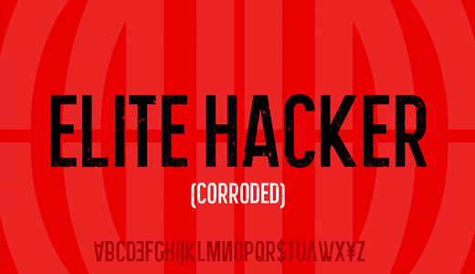 Elite Hacker Corroded<br /> http://www.dafont.com/elite-hacker-corroded.font