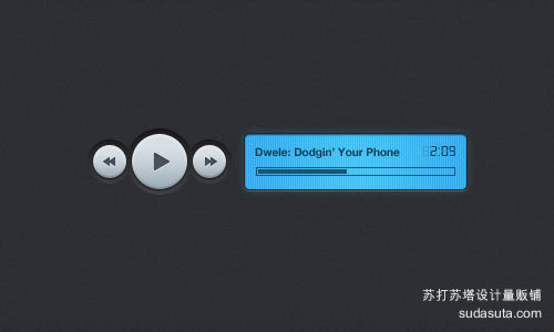 数字音乐播放器(PSD)<br /> http://www.premiumpixels.com/freebies/digital-music-player-psd/