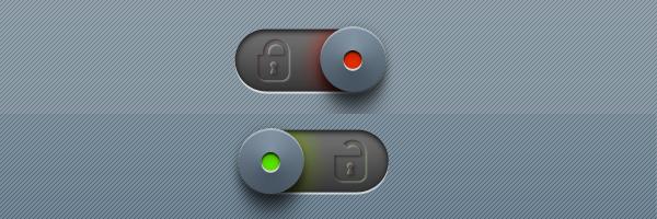 Lock &  Unlock Slider Button<br /> http://365psd.com/day/3-82/<br />