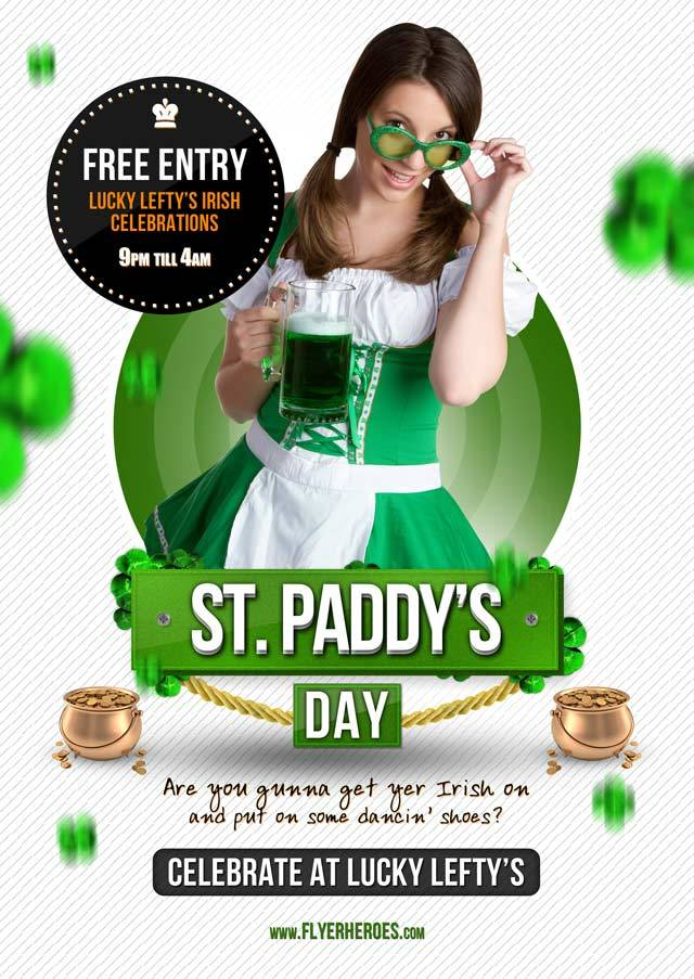 St. Paddy's Day Flyer Template<br /><br /> http://flyerheroes.com/free-st-patricks-day-flyer-template/