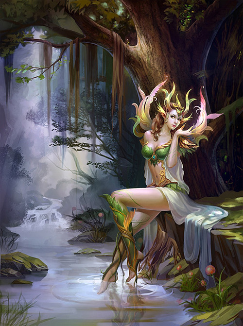 Forest Spirit<br /> http://thedesigninspiration.com/illustrations/forest-spirit/