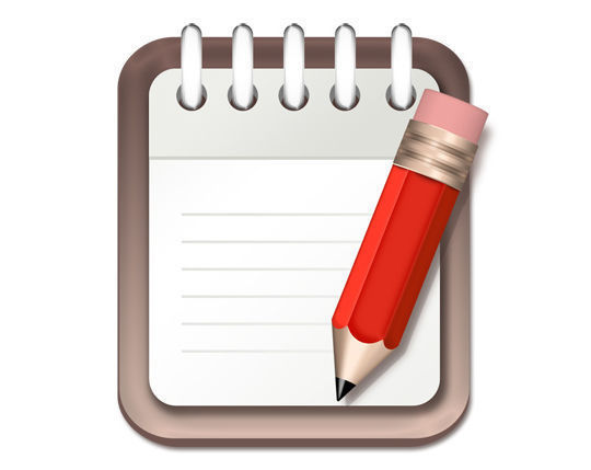 Notepad and pencil icon<br /> http://www.psdgraphics.com/psd/notepad-and-pencil-icon-psd/