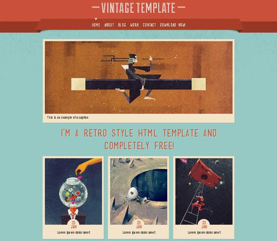Demo:<br /> http://luiszuno.com/themes/vintage/<br /> Download:<br /> http://luiszuno.com/blog/downloads/vintage-html-template/