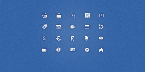 20个免费16×16像素的电子商务图标<br /> http://dribbble.com/shots/277818-20-Free-16-by-16px-Ecommerce-Icons
