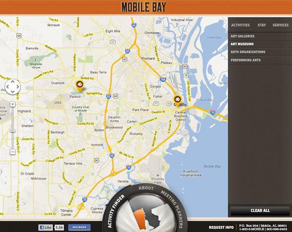 Mobile Bay<br /> http://mobile.org/activity_finder