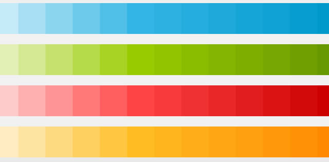 Android 4.0 Color Swatches Downloads<br /> http://developer.android.com/design/style/color.html
