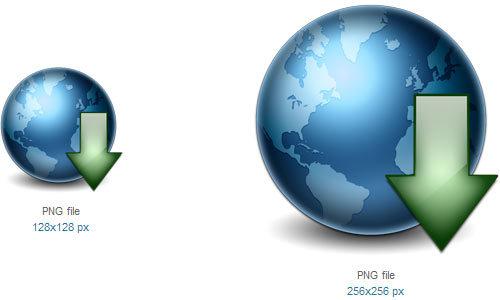地球下载图标<br /> http://www.softicons.com/free-icons/web-icons/web-icons-by-studiomx/earth-download-icon